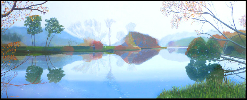 David-Lake-south-Esk-in-Mist-61x153cms-5950